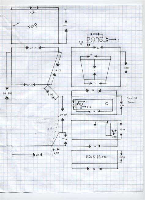 size arcade cabinet plans arcade cabinet plans metric woodworking plans