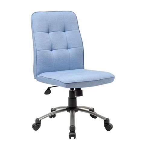 modern office chair light blue bosschair