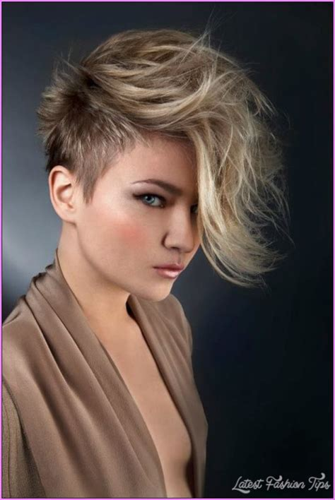 short hair at back longer on top short haircuts with longer sides latestfashiontips com