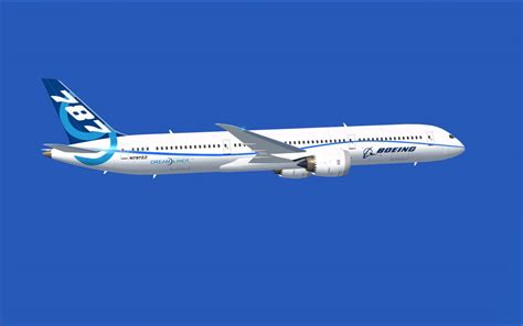 flying plane boeing flight test airplane 787 9 for fsx