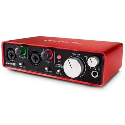 Focusrite 2i2 2nd Usb 2 0 Audio Interface 2 In 2 Out focusrite 2i2 2nd usb 2 0 audio interface focusrite from inta audio uk