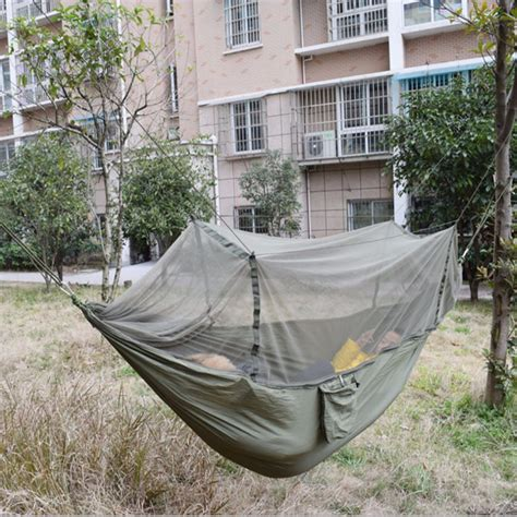 outdoor hammock bed outdoor jungle cing mosquito net hammock hanging swing