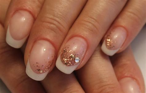 Nägel Mit Gold by White Nails With Gold Tips Www Pixshark Images
