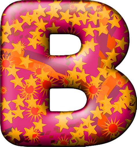 Themed Party Letter B | presentation alphabets party balloon warm letter b