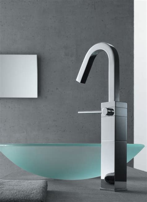 contemporary faucets from teknobili cube faucets