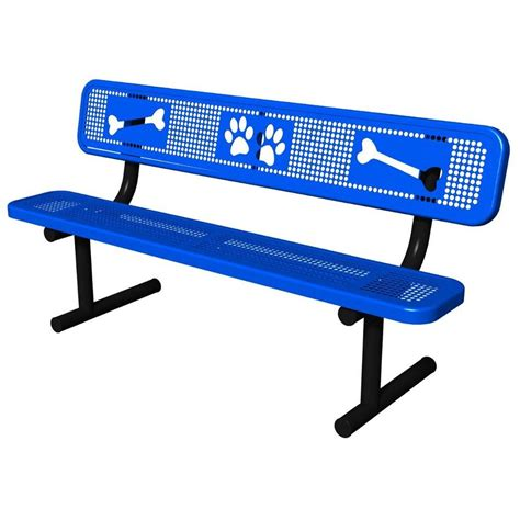 bench for dogs ultra play blue paws dog park commercial bench