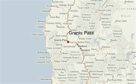 map of oregon grants pass grants pass location guide