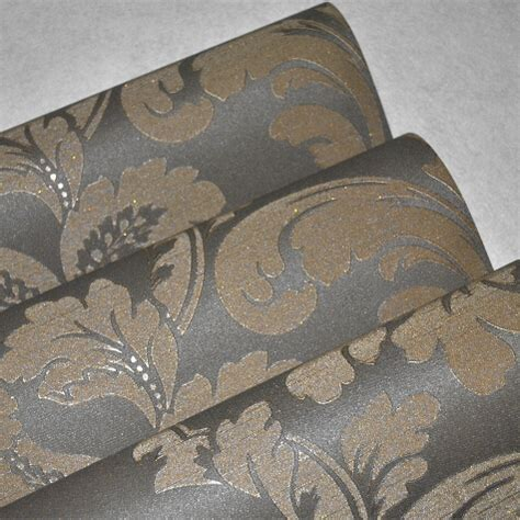 grey expensive wallpaper heavy deep embossing modern luxury gold grey wallpaper