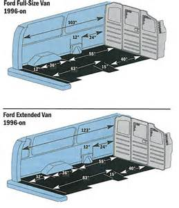 Ford Cargo Dimensions Ford E250 Extended Looking For Dimensions