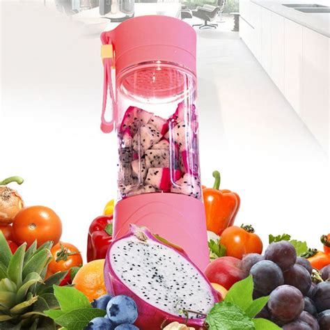 Blender Mini Isi 2 blender jus portable membuat jus buah favorit lebih