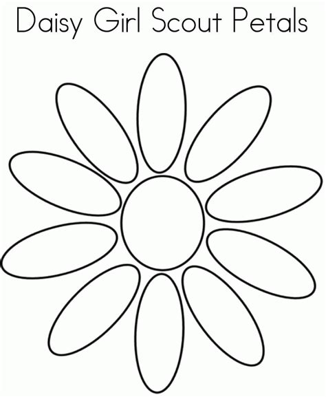 Download Printables Daisy Girls Scout Petals Coloring Page Scout Petals Coloring Sheet Printable