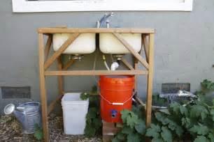 Backyard Gear Water Station Plus Outdoor Sink Banyan S End Diy Outdoor Sink Rinse Veggies Save Water