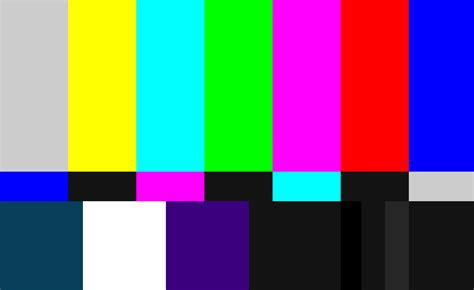 test pattern for monitor calibration display calibration using smpte colour bars 4k shooters