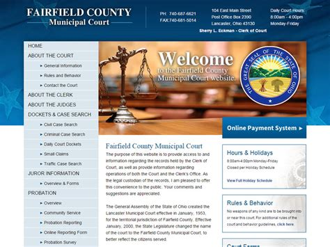 Fairfield County Clerk Of Courts Records Fairfield County Portfolio Details Akron Columbus Ohio Website Design Robintek