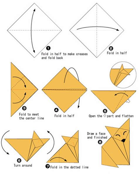Origami Wolf Tutorial - origami for pdf 1 diy projects to try