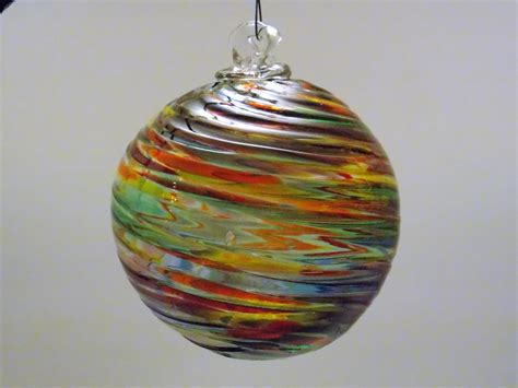 hand blown glass ornament friendship ball