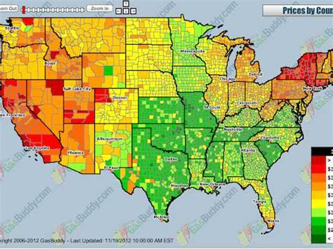 california map gas prices map us gas prices business insider