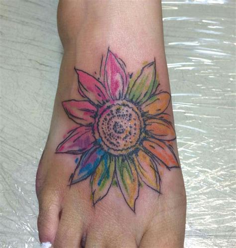 sunflower watercolor tattoo watercolor sunflower designs ideas and meaning