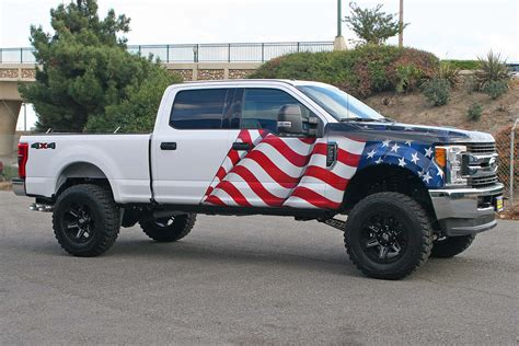 american flag truck american flag eagle truck wrap visual horizons custom