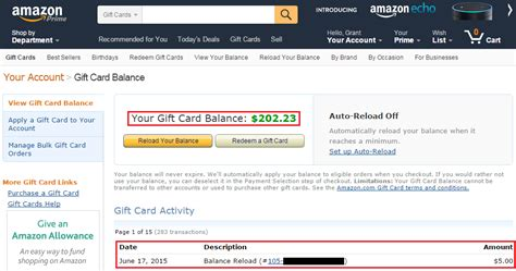 Amazon My Gift Card Balance - bank of america bankamericard better balance rewards intro