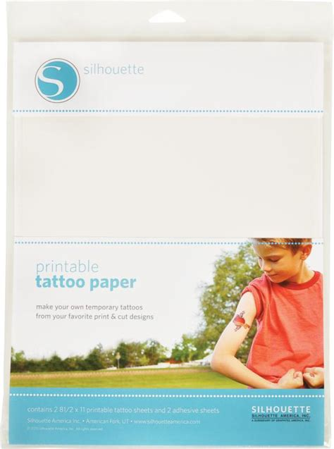 silhouette temporary tattoo paper yol 246 creative transfer silhouette printable