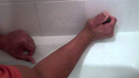removing old caulk from bathtub how to remove caulk in a tub shower youtube