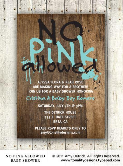 Handmade Boy Baby Shower Invitations - baby boy baby shower invitation no pink allowed diy