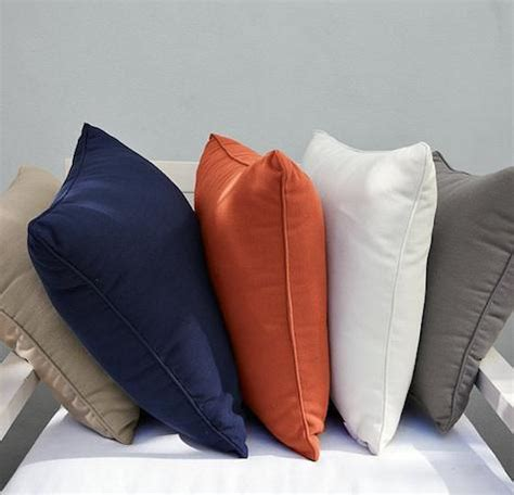 West Elm Outdoor Pillows by Solid Outdoor Pillows Remodelista