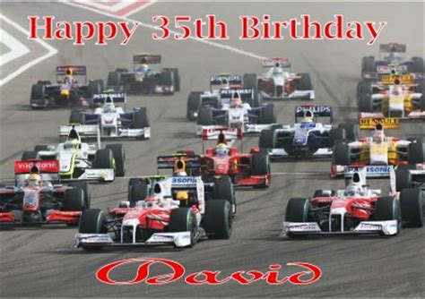 Formula 1 Birthday Cards