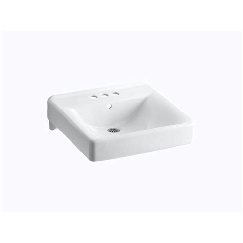 kohler wall mount sink kohler kingston wall mount vitreous china bathroom sink in