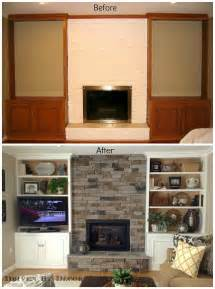 White 3 Shelf Bookcase Transforming A Fireplace And Built In Bookcases Driven
