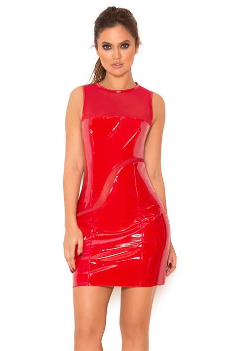 Glossy Dress clothing bodycon dresses rala glossy stretch