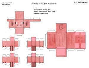 Papercraft Minecraft Pig - papercraft pig