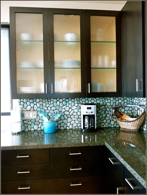 frosted glass kitchen cabinets   Home Decor