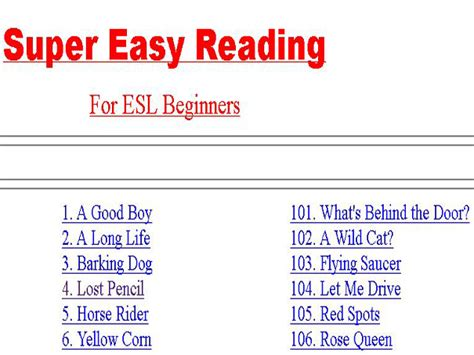 Reading Exercises English Guide Org