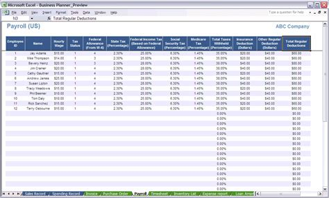 payroll excel template best photos of excel payroll