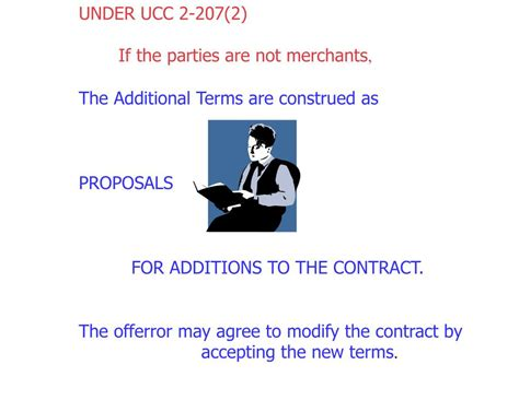 ucc section 2 207 ppt reaching agreement the process of contract