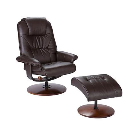Leather Recliner With Ottoman Brown Bonded Reconstituted Leather Recliner And Ottoman 6637063 Hsn
