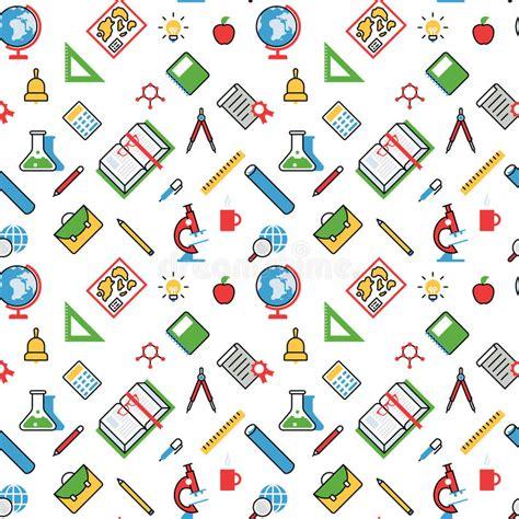 svg pattern object education objects pattern seamless background vector