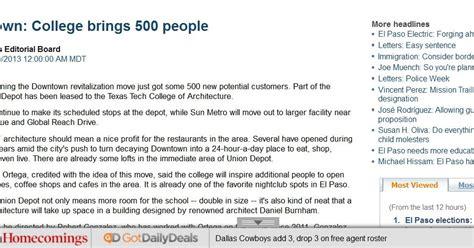 Resume Help El Paso Inside El Paso Is The El Paso Times Deliberately