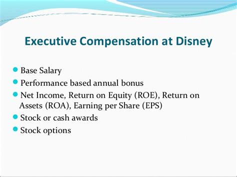 Disney Mba Salary by Executive Compensation Ashish 1