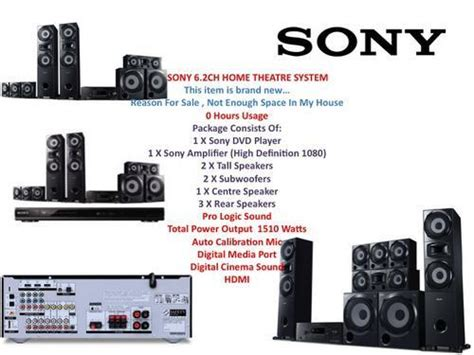 home theatre systems sony home theatre system 6 2ch