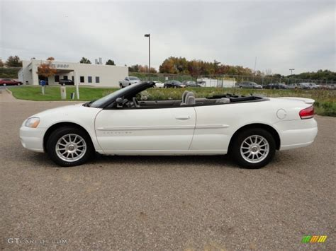 Chrysler Sebring 2001 Convertible by White 2001 Chrysler Sebring Lx Convertible Exterior