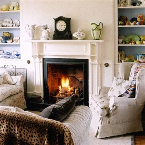 how to decorate a living room with a fireplace interior