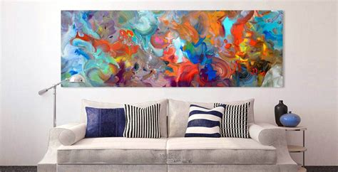 Sofa Paintings by This Large Colourful Painting Is For A Space Above
