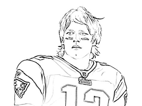 New England Patriots Coloring Pages 171 Cbs Boston Tom Brady Coloring