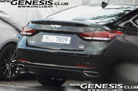 2015 hyundai genesis black 2015 hyundai genesis rear black the korean car
