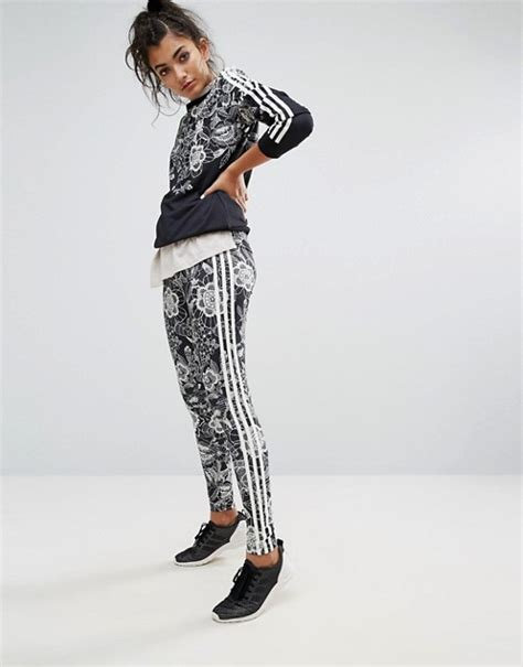Adidas Flower Fastival Suitshirt Hoodie And Legging Print Compression affordable adidas clothing adidas originals farm floral