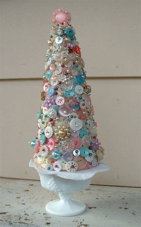 diy pastel button tree tutorial crafts christmas