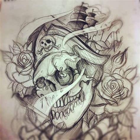 pirate lady tattoo designs pirate and roses tattoos sketch pirata